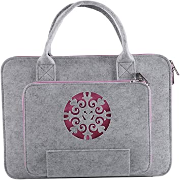 Gaoominy Súper Ligero Bolso para Laptop de Fieltro de Lana Tallada para Bolsa de Computadora Estuche de Cuaderno (15.6 Pulgadas): Amazon.es: Electrónica