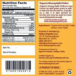 Organic Moong Split Chilka Dal (Green Gram Split) (2 Lbs)