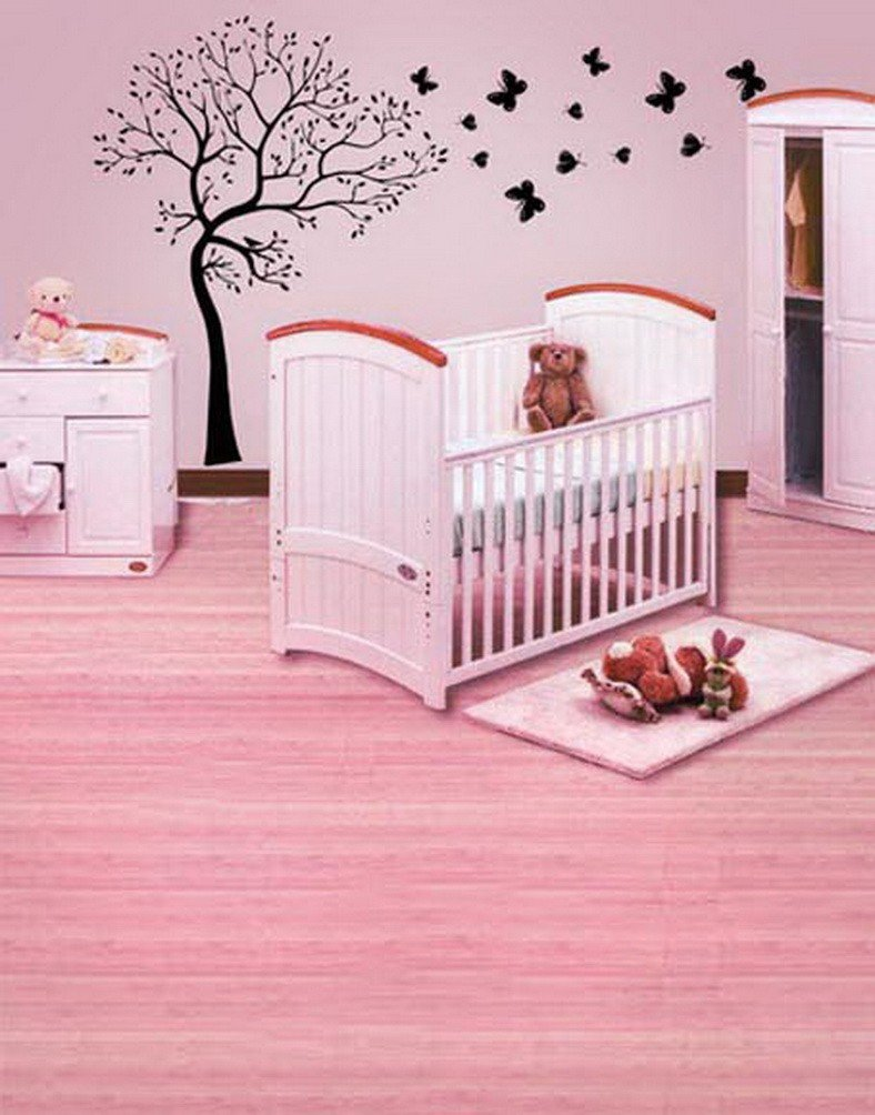 A Monamourガールズ子供部屋壁壁画ファブリック装飾Baby Girls Studio小道具写真の背景幕   B01KTO6RVM