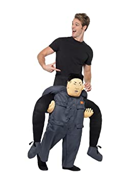 Mens Adult Ride On Piggy Back Gorilla Monkey Fancy Dress Costume Stag Outfit L