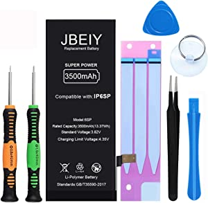 JBEIY Battery for iPhone 6S Plus, 3500mAh Super High Capacity Battery Replacement kit New 0 Cycle, with Complete Professional Tools, Tweezers and Instructions-?1 Year Warranty?