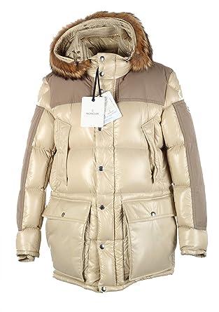 Moncler CL Beige Frey Down Quilted Jacket Coat Size 4 L