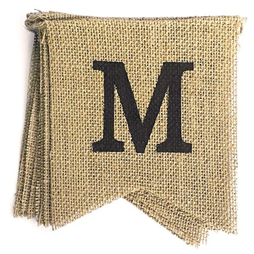 dealzEpic MISS TO MRS Rustic Burlap Bunting Banners