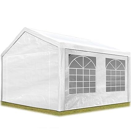 quality design cea0b af602 TOOLPORT Partyzelt Pavillon 3x4 m in weiß 180 g/m² PE Plane Wasserdicht UV  Schutz Festzelt Gartenzelt