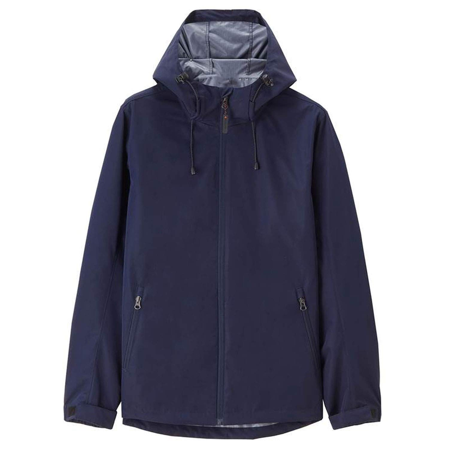black-shop Men Jacket Solid Hood Windbreaker Drawstring Hood ...
