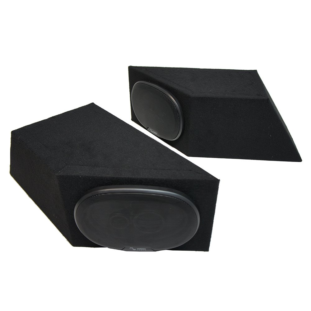 Fits 1987-1995 Jeep Wrangler YJ Harmony R69 Speakers Dual 6x9 Speaker Box Enclosures
