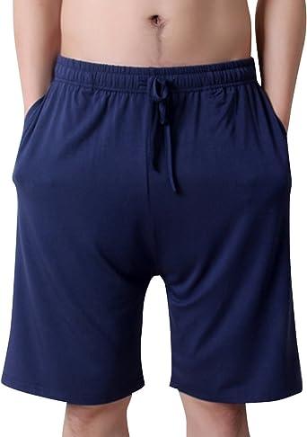AIEOE - Pantalones Cortos de Pijama para Hombre Bóxer Ropa de Dormir para Verano Fino Ligero Transpirable Talla Grande