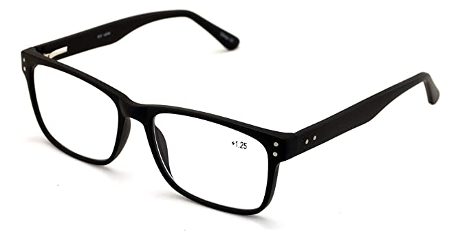 Amazon.com: Gafas de lectura rectangulares grandes para ...