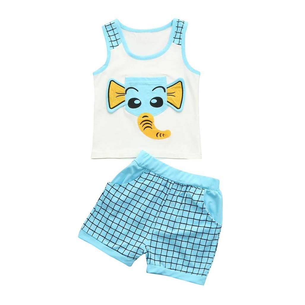 56f4872dc7b2 Amazon.com   Jchen Baby Sets Kids Cartoon Pajamas Sets
