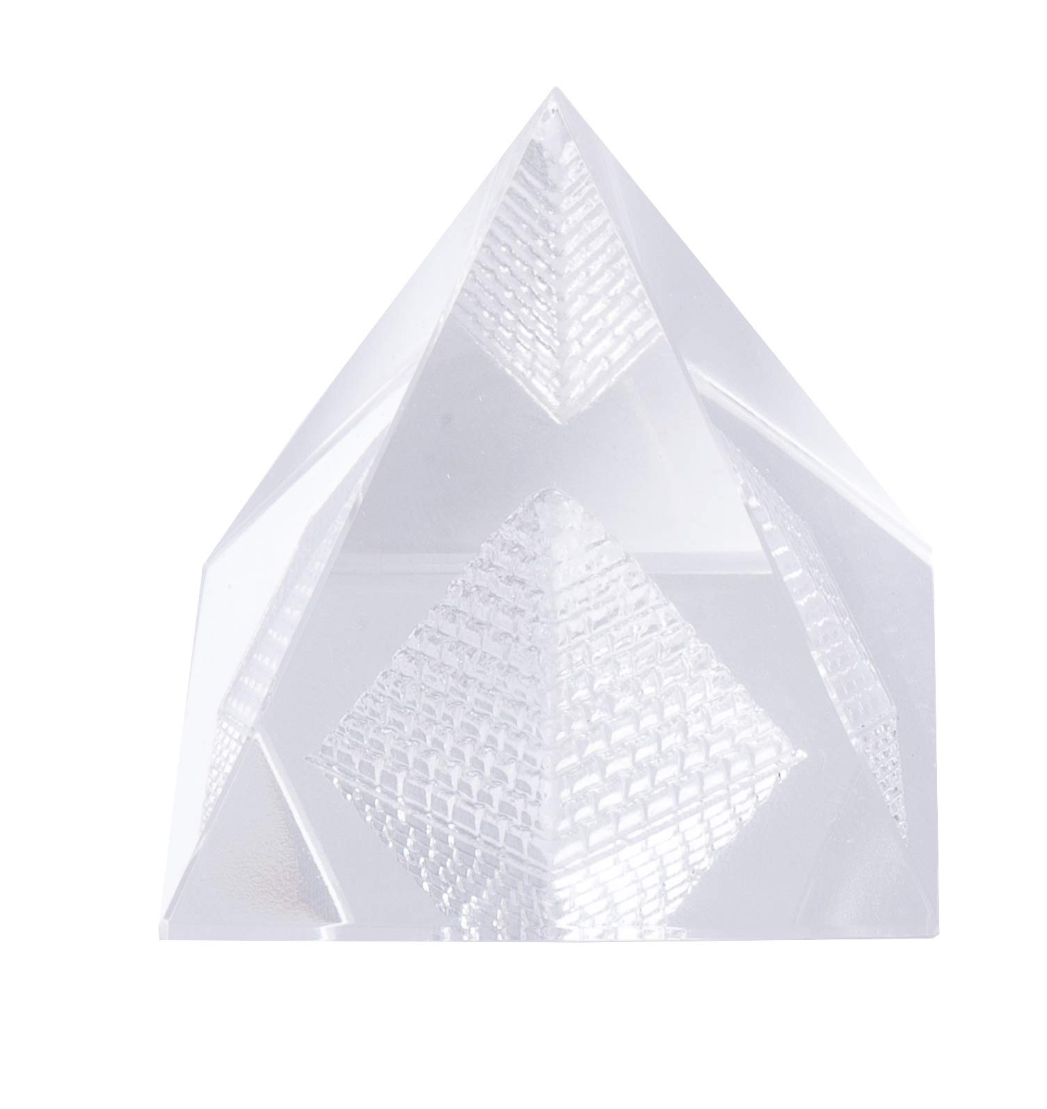 Pandit NM Shrimali Crystal Pyramid BARMUDA Triangle (60Gm, Weight: 30 gm, Material: Crystal)