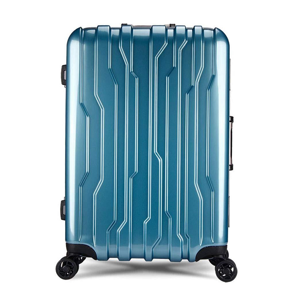 FRF トロリーケース- 学生の軽量のPCのトロリー箱、普遍的な車輪のアルミニウムフレームのスーツケースの荷物 (色 : 青, サイズ さいず : 20in) 20in 青 B07QT84PR4