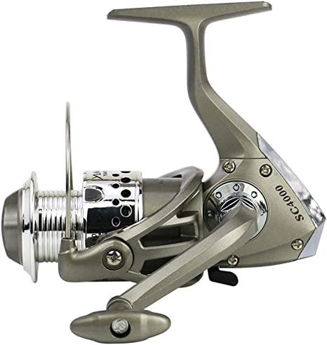 GPAN Metal Spinning Fishing Reel,Spinning Reel Fishing Tackle5.5:1 ...