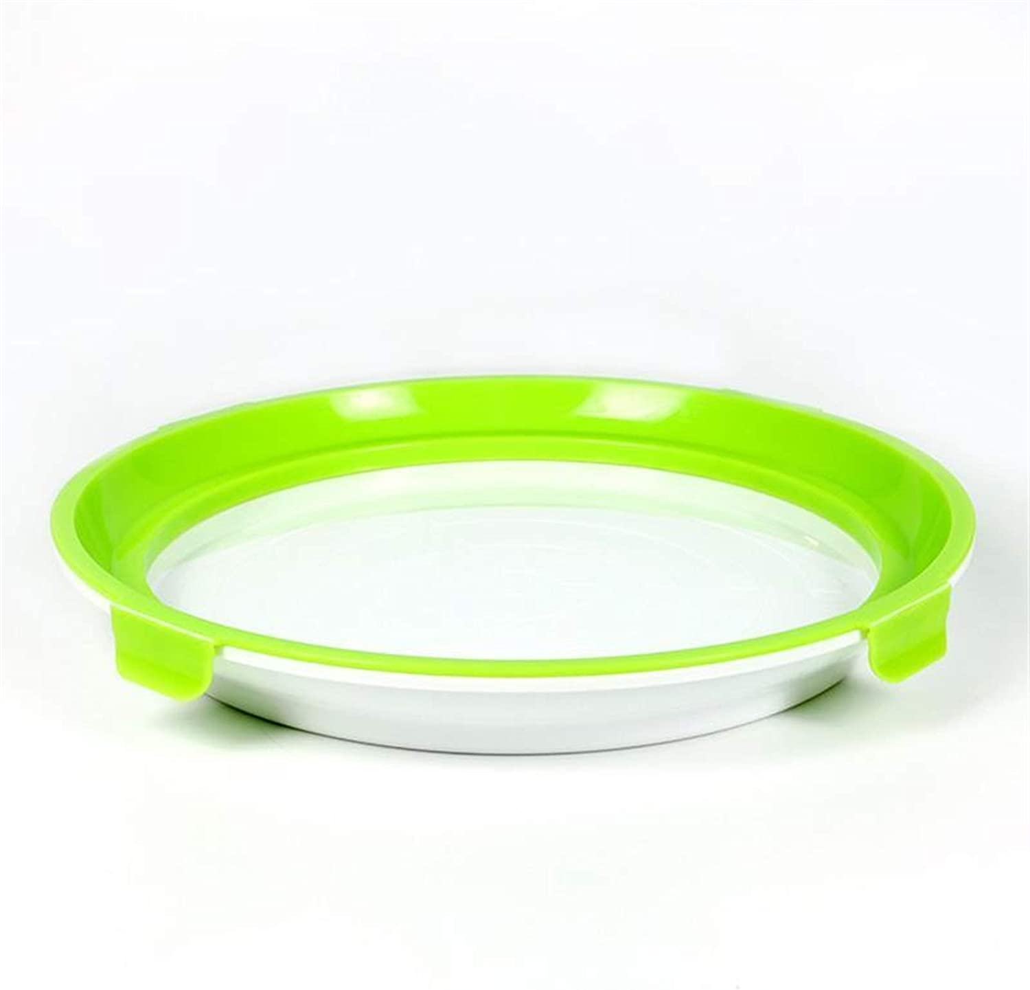 Bottle Round Tray Food Plastic Preservation Tray Kitchen Items Food Storage Container Set Food Fresh Storage Microwave Storage (Color : Light Green, Number of Tiers : 2PCS)