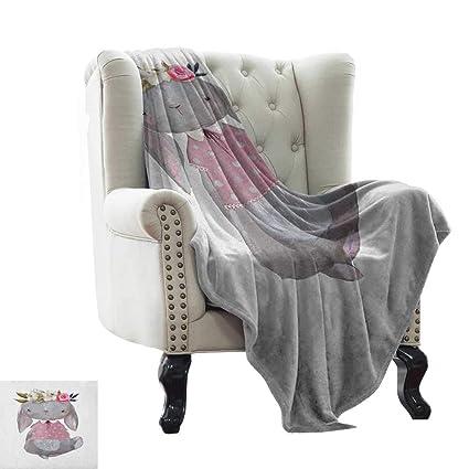 Amazon.com: LsWOW Yoga Blanket Kids,Young Girl Summer Hare ...