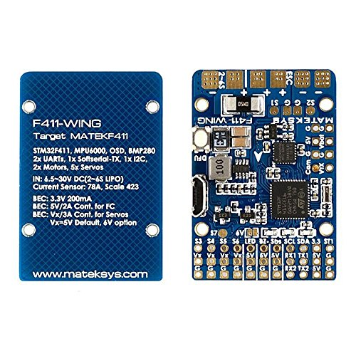 Cheap Matek F411-WING Flight Controller F4 FC Built-in OSD BEC & Current Sensor on Board for RC FPV Racing Drone