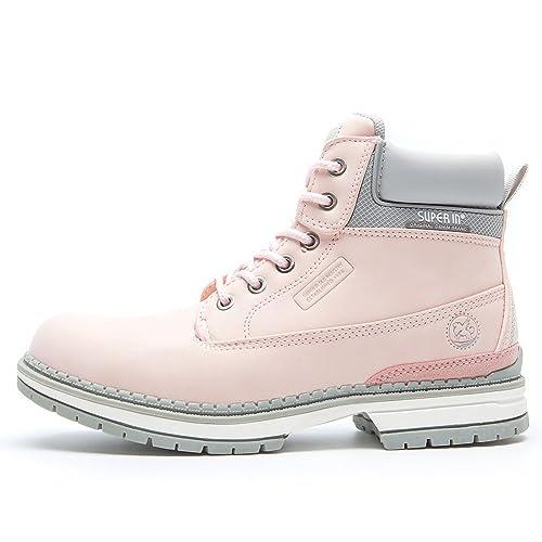 Botines Planos de Spring para Mujer AnjouFemme Zapatos con Cordones para Mujer, Botas Impermeables Cómodas, la Mejor Elección para Caminar, Hacer