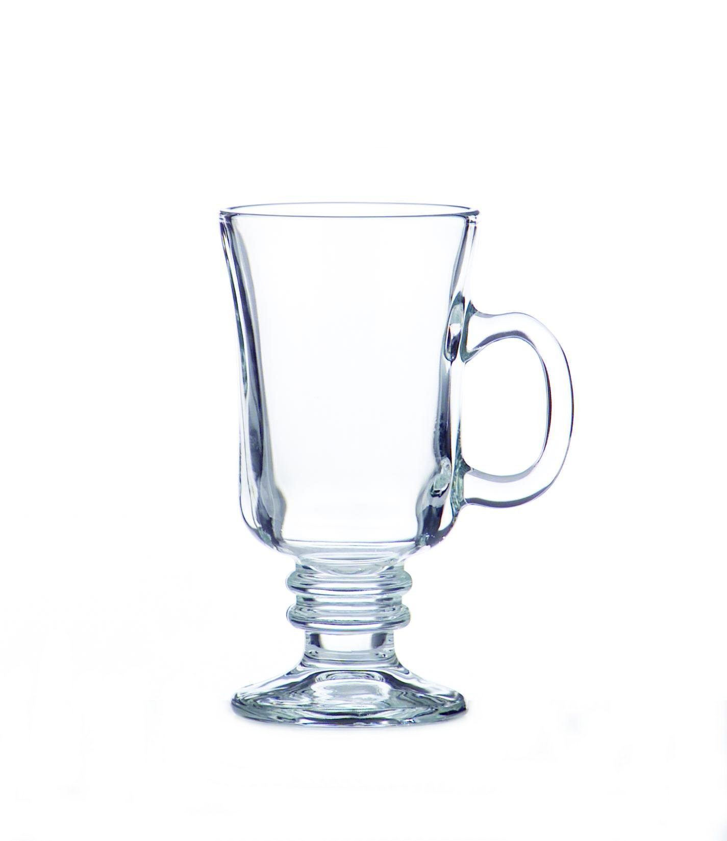 Libbey 8-Ounce Irish Coffee Mug, Box of 12, Clear