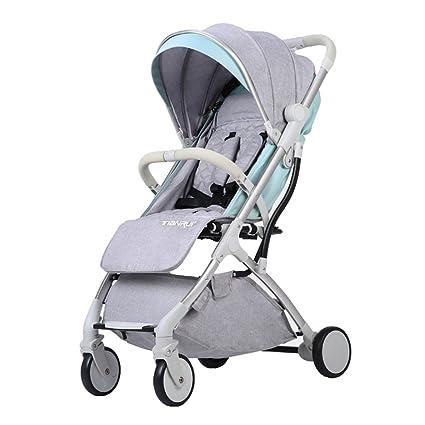 Trolley LXZXZ - Carro de bebé de 4 Ruedas Ultra-Ligero Portátil para ...