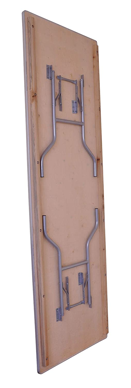 Amazon.com: Mesa plegable rectangular de madera de abedul ...