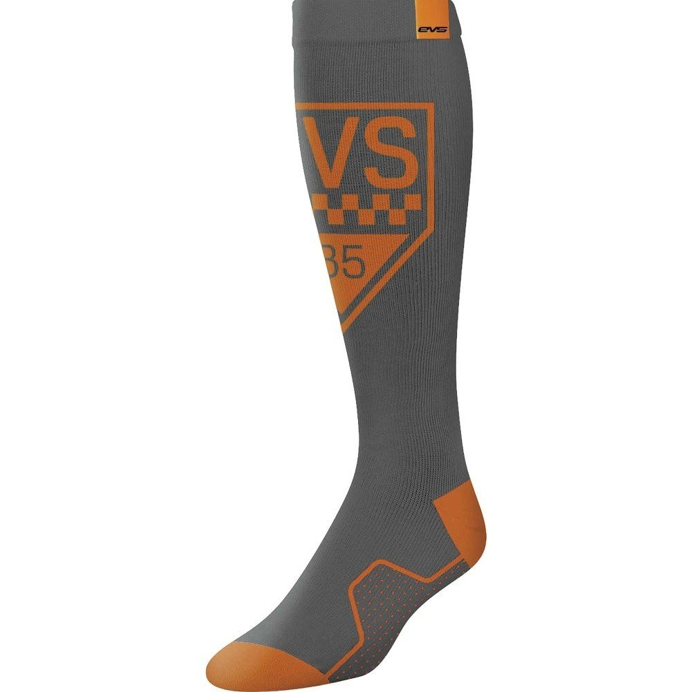 EVS Sports  unisex-adult Moto Sock - Circuit (Orange, Large), 1 Pack