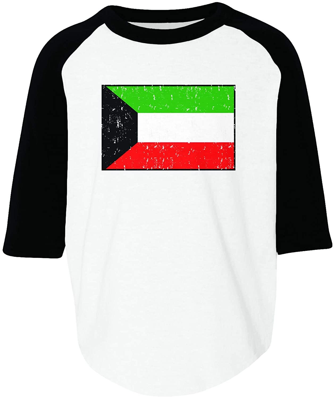 Amdesco Flag of Kuwait Kuwaiti Toddler Raglan Shirt