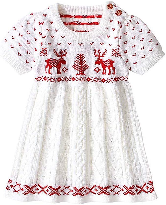 Vestito Cerimonia 3 Anni.Vestito Natale Costume Ragazza Bambina Abito Maglia Gonna