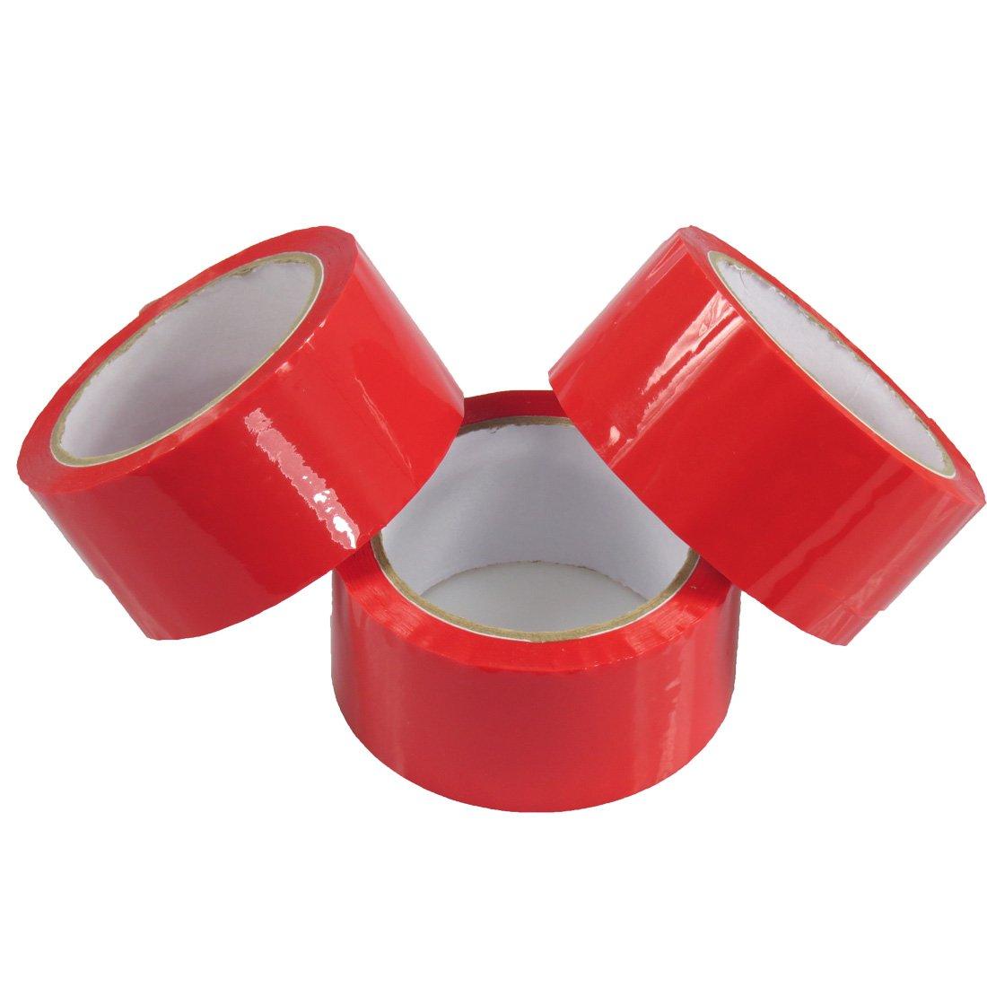 Triplast 48 mm x 66 m, a basso rumore imballaggio nastro, colore: rosso (Confezione da 3) CL