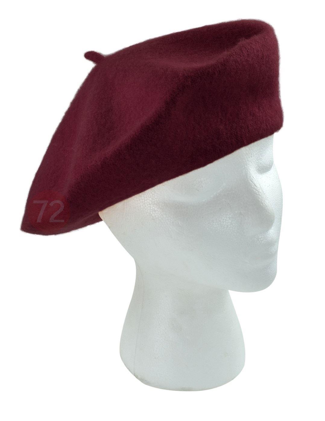 True Wool Beret Burgundy For Women Seleny WH4010-BURGANDY