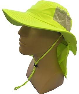 63dc4b9c OccuNomix Tuff & Dry Wicking & Cooling Hi Viz Yellow Ranger Hat with Neck  Shade -
