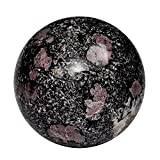 Satyamani Natural Ruby Matrix Gemstone Sphere(201 gm-300 gm)