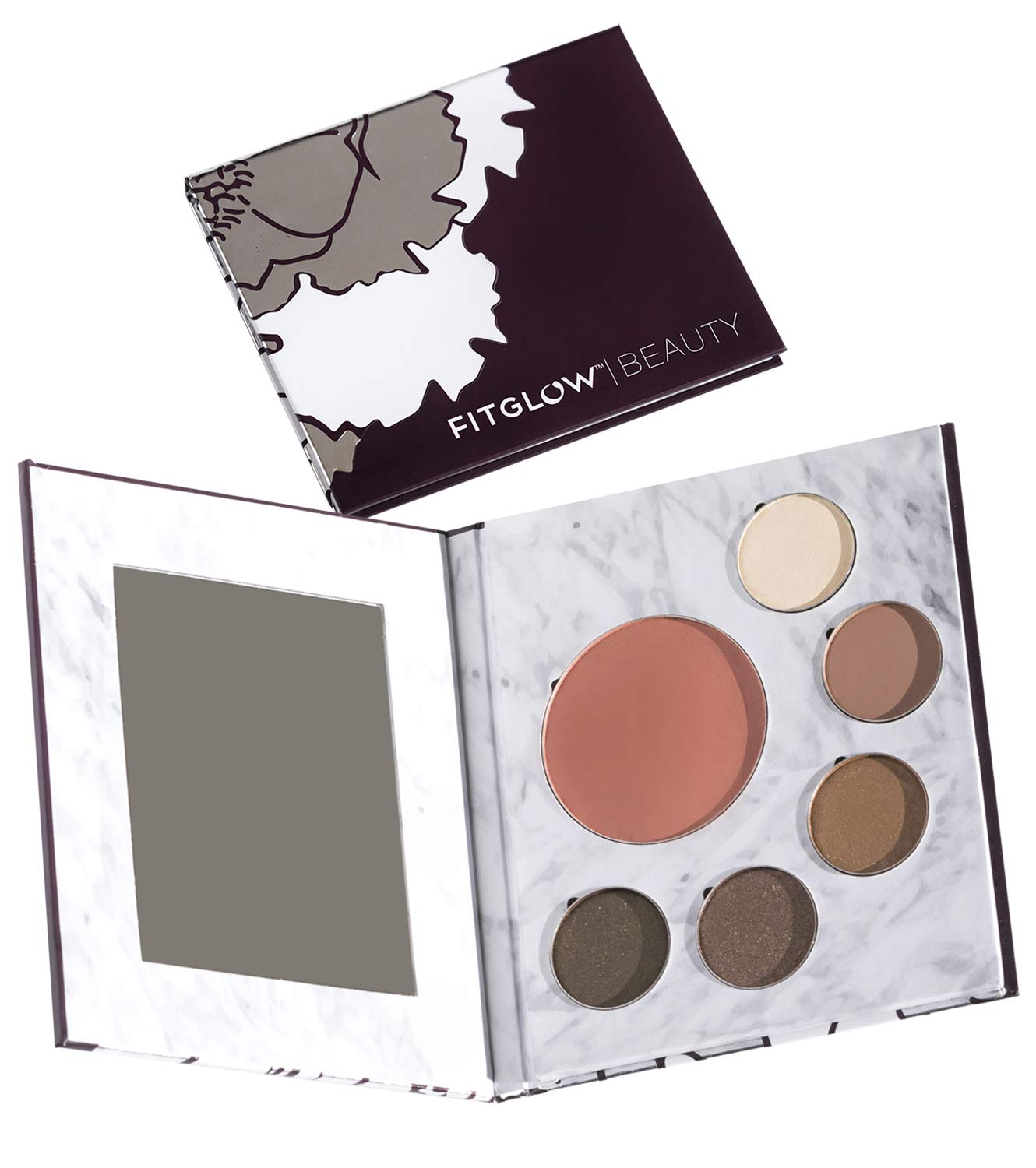 Fitglow Beauty Night Makeup Palette, Shimmer Set with Eyeshadow & Blush by FITGLOW
