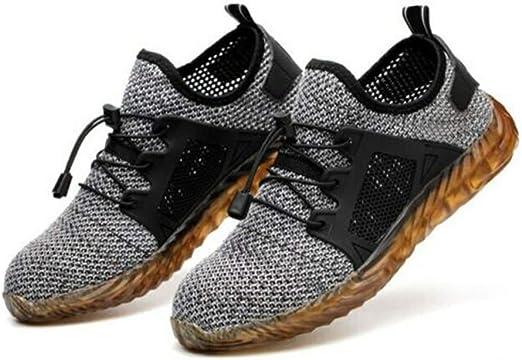 Syfinee Hombres Chic Zapatos de Trabajo Transpirables a Prueba de Pinchazos Seguro Laboral Zapatillas de Deporte para el Verano: Amazon.es: Hogar
