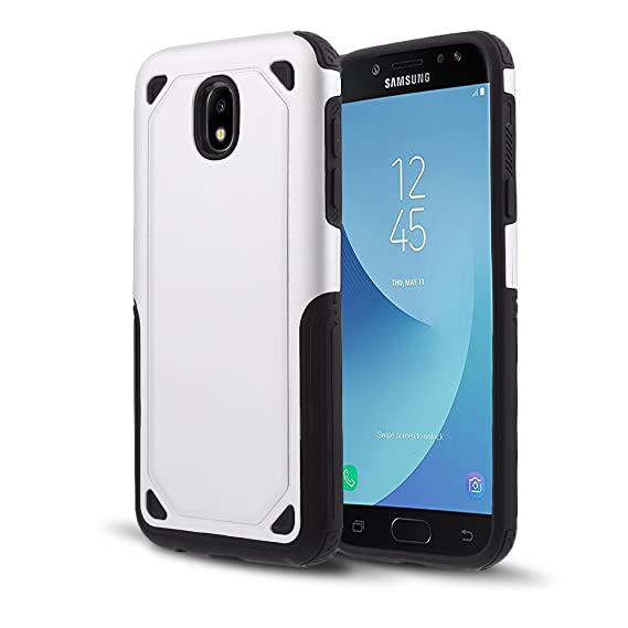 outlet store fa8da 79efb Galaxy J5 Pro J530 Case, Hybrid Armor Case with Air Cushion Technology and  Secure Grip Drop Protection for Samsung Galaxy J5 Pro J530 2017 (Silver)