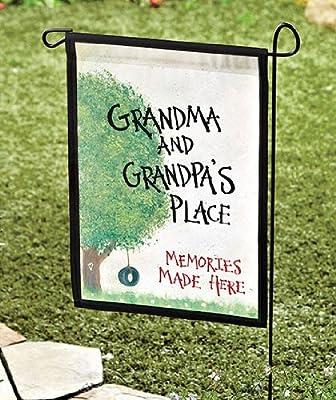 "Garden Flag Grandma & Grandpa's Place 18 x 12.5"" Great gift for the grandparents - Gifts for Grandma - Gift for Grandpa"