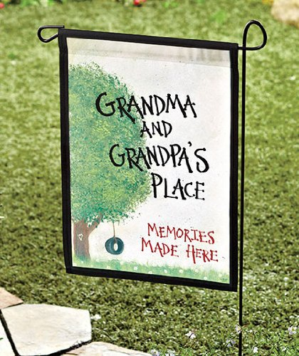 "Garden Flag Grandma & Grandpa's Place 18 x 12.5"" Great gift for the grandparents - Gifts for Grandma - Gift for Grandpa"