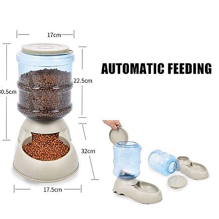 Provide The Best El Gato del Perro Alimentador automático del Animal doméstico 3.75L Bebedero para Puppy Beber Agua Que alimenta Gatito dispensador Grande ...