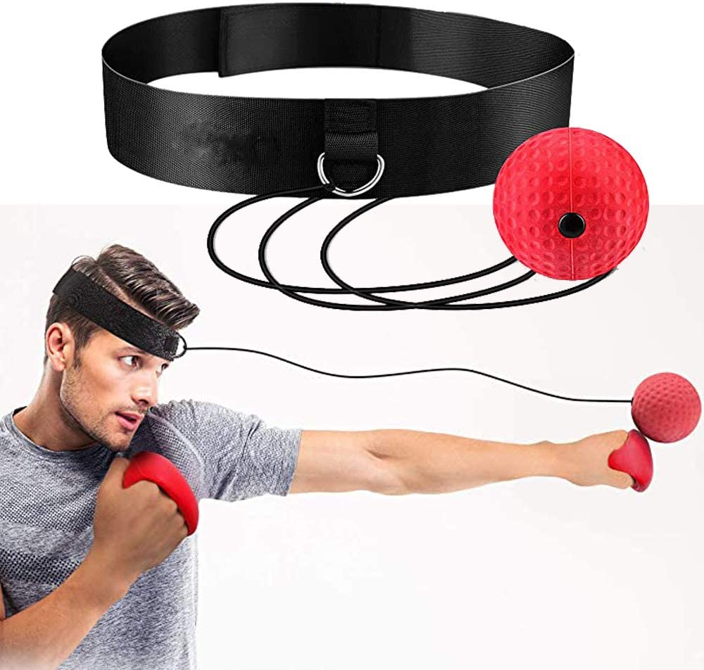 para Adultos//Ni/ños Mejora el Enfoque de Golpe Nobranded Bola de Reflejo de Boxeo Bola de Velocidad de Entrenamiento de Boxeo con Diadema Lucha Reacciones de Velocidad de Entrenamiento de MMA