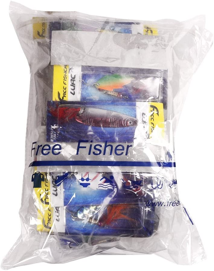 FREE FISHER 30 Spinner Super New Fishing Lure Pike Salmon Bass T10