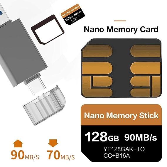 julyso Soporte de Tarjeta de Memoria Nano de 128 GB para ...