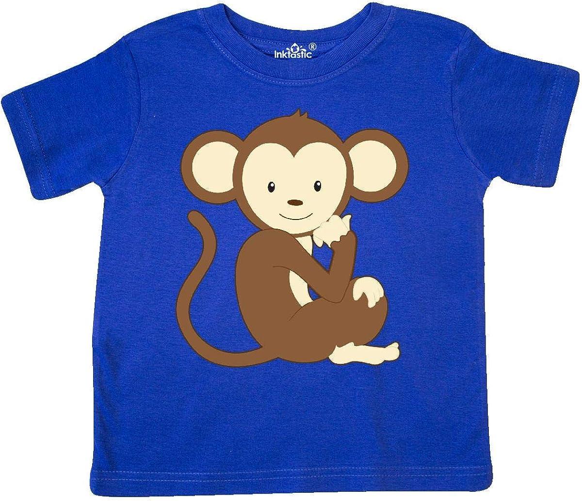 inktastic Monkey Thinking Toddler T-Shirt