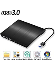 External DVD CD Burner Portable CD/DVD-RW Reader Writer Drive Player for Apple Mac, Mac Pro, Mac Air and Other Laptops, Desktops,Windows 8.1/10 Compatible