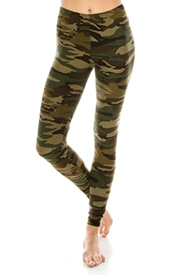 73d55f2d8342ee ALWAYS Women Premium Camo Leggings - Buttery Soft Stretch Military Army  Print One Size