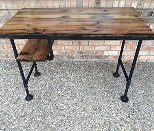 Enjoyable Reclaimed Wood Desk Table Rustic Solid Oak W 28 Black Iron Pipe Legs Home Interior And Landscaping Mentranervesignezvosmurscom