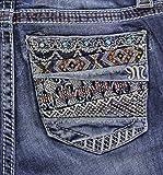 Miss Me Women's Tribal Embellished Pocket Jeans Boot Cut Indigo 26