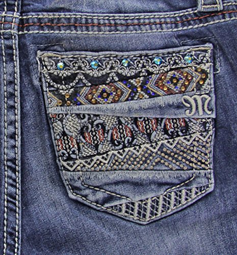 Embroidered Bootcut Womens Jeans - 9