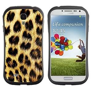 "Hypernova Slim Fit Dual Barniz Protector Caso Case Funda Para SAMSUNG Galaxy S4 IV / i9500 / i9515 / i9505G / SGH-i337 [Patrón manchas de piel de oro de Brown""]"