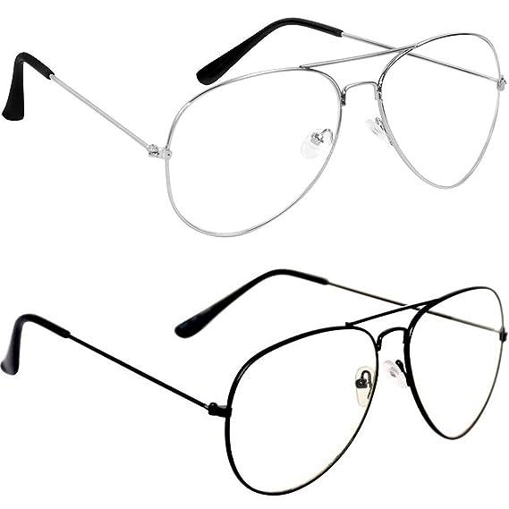 583f2db5260 Sheomy Aviator Combo Pack of Mirrored Unisex Sunglasses (sunglasses men  white glass with transparent lens