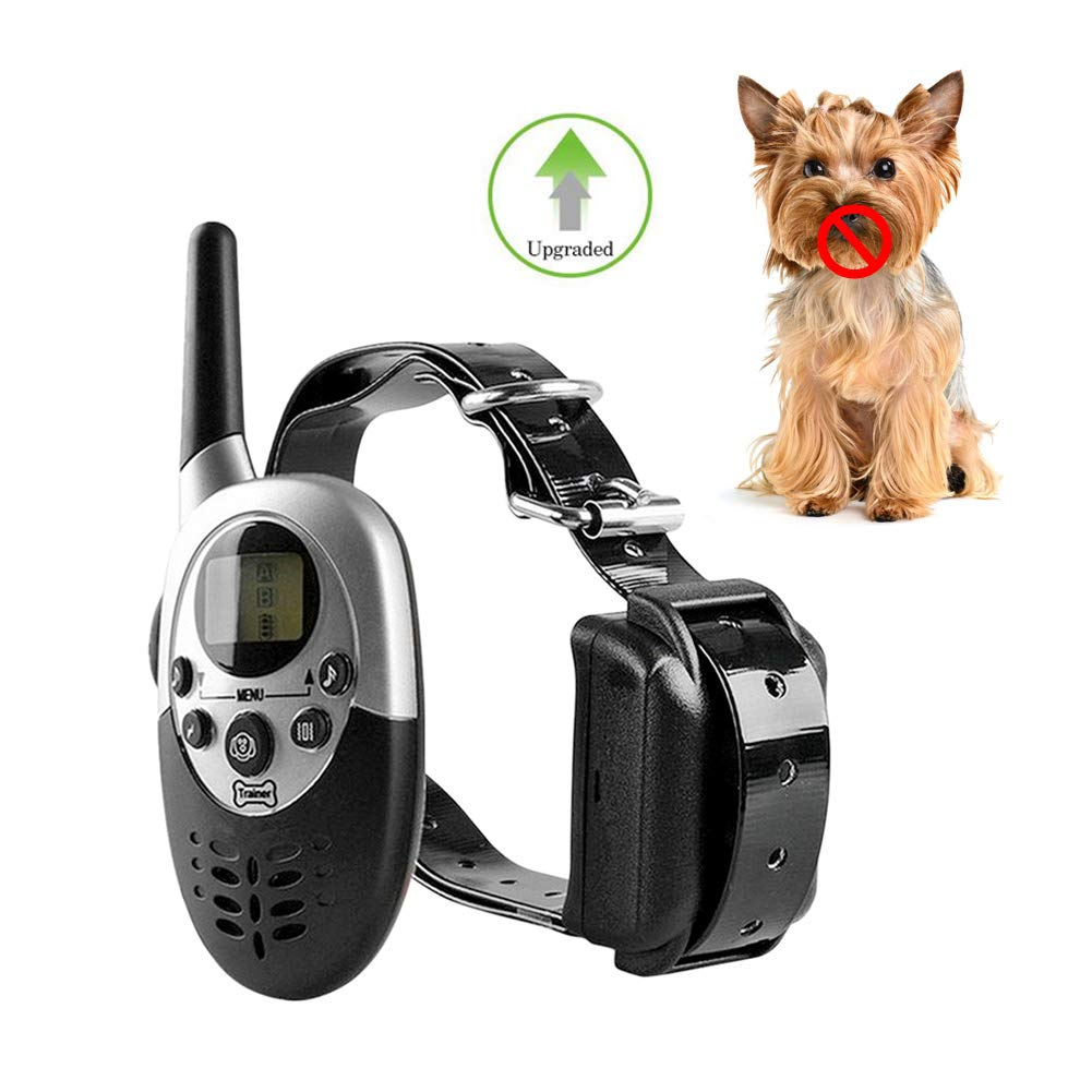 VOOO4CC Dog Trainer Collar 1100 Yard Remote Waterproof Rechargeable Dog Anti Bark Shock Collar with Beep Vibration & Electric Shock by VOOO4CC