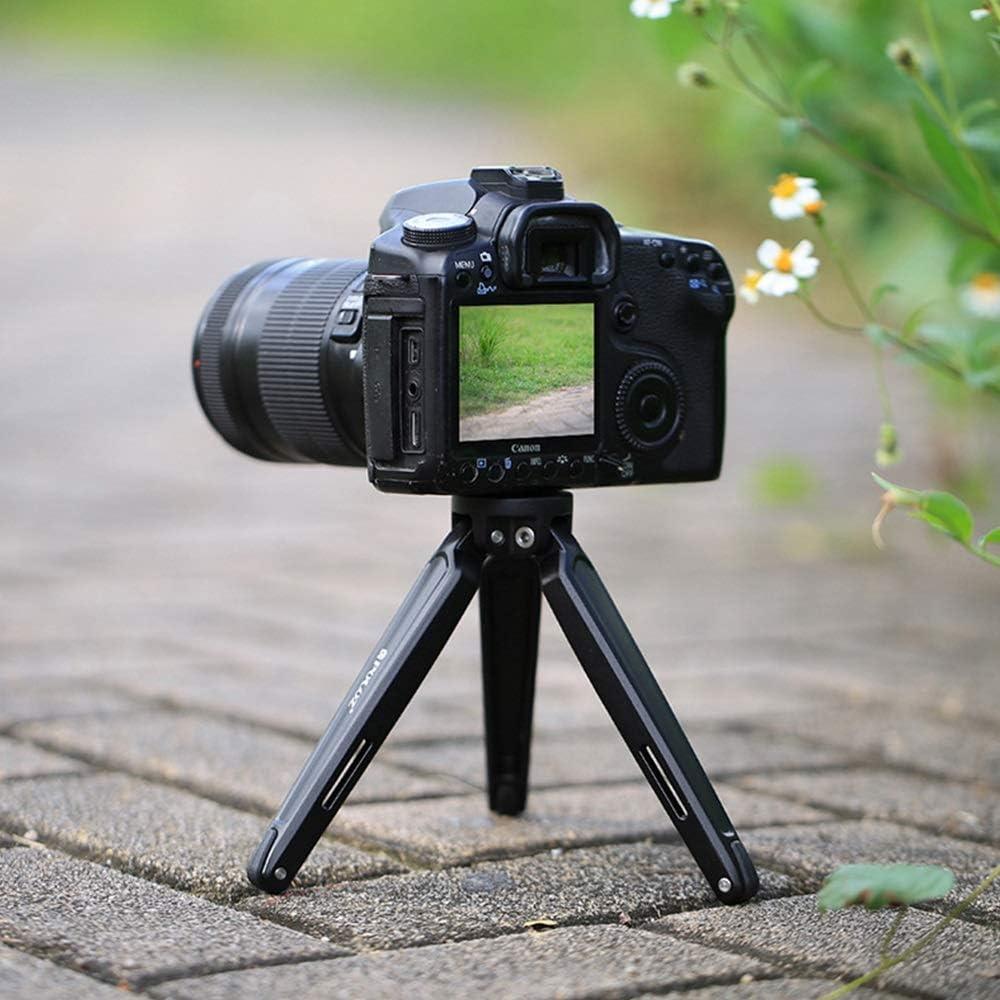 XIAOFLYI Cameras Tripod Mini Metal Desktop Tripod Mount for DSLR Digital Cameras Adjustable Height 4.5-15cm Color : Black