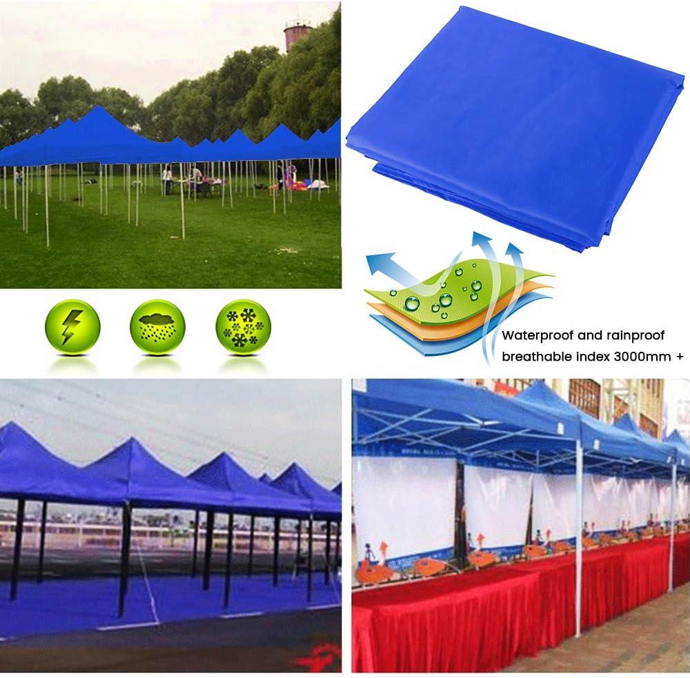 Bleu Judy1980 Toile de Tonnelle 3x3M,Toile Tonnelle 3x3 de Rechange Imperm/éable Anti-UV en Tissu Oxford pour Jardin Ext/érieur Terrasse Balcon Plage Piscine